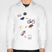 sport Hoodies featuring Sport - Triathlon by BlandinePannequin