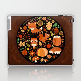 Autumn Party For Forest Friends Laptop & iPad Skin