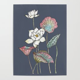 Lotus flower posters society6 mightylinksfo