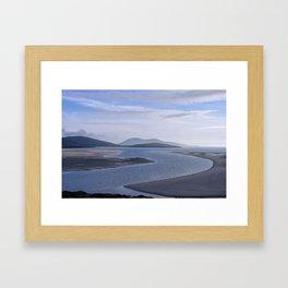 Seaside Blues Framed Art Print
