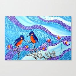 2 Kingfishers Canvas Print