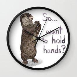 Otter Valentine Wall Clock