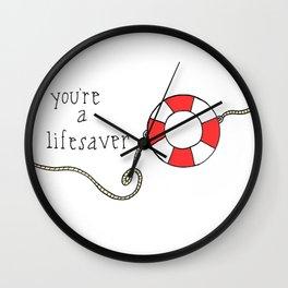 Lifesaver Wall Clock