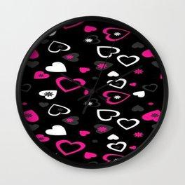 Love patterns, love Wall Clock