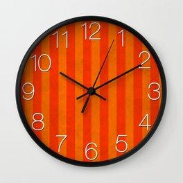 Stripes Collection: Orange Crush Wall Clock