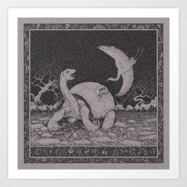 Stop, egret! Art Print