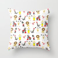 circus Throw Pillows featuring Circus by Lydia Meiying