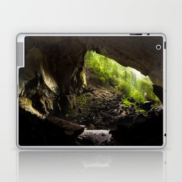 View from inside deer cave in gunung mulu national park looking outside Laptop & iPad Skin