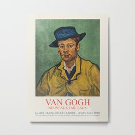 Vincent van Gogh - Exhibition poster at the Museum Jacquemart-Andre, 1960 Metal Print