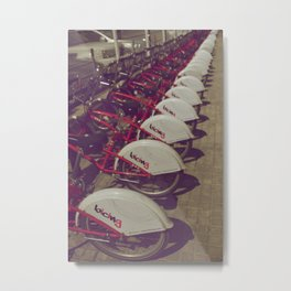 Barcelona, Spain - All In A Row Metal Print