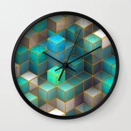Geometry & Turquoise Wall Clock
