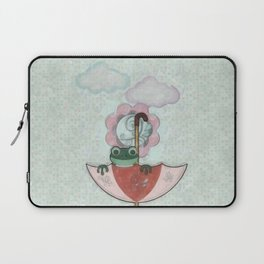 Rainy Day Frog Children's Art Laptop Sleeve