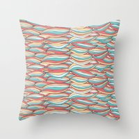 candy Throw Pillows featuring Candy by Pom Graphic Design