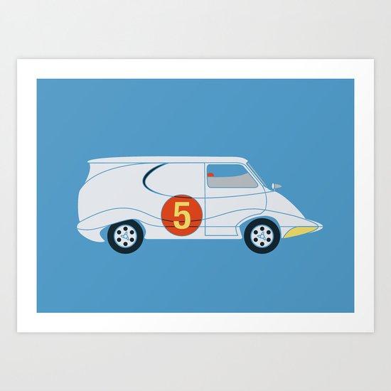 Tha Mach5 Van Art Print