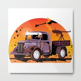 K1 Technical - Destroy Metal Print