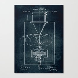 1897 Kinetographic Camera patent art Canvas Print