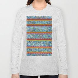 Aboriginal Art - Blue Long Sleeve T-shirt