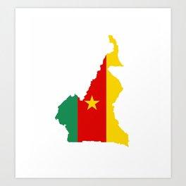 cameroon flag map Art Print