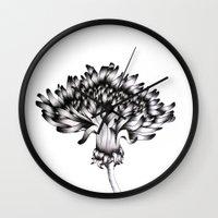 dandelion Wall Clocks featuring Dandelion by ECMazur