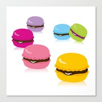 macaron Canvas Prints featuring macaron by taichi_k