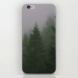 Green Mountain Fog iPhone Skin