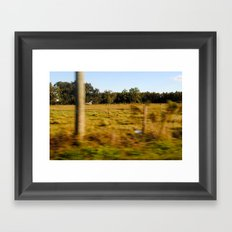 country roads Framed Art Print