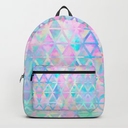 Pink pastel aztec pattern Backpack