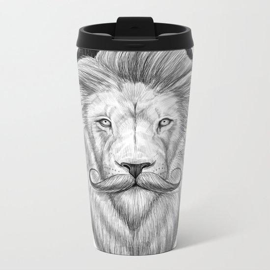 bearded lion Metal Travel Mug