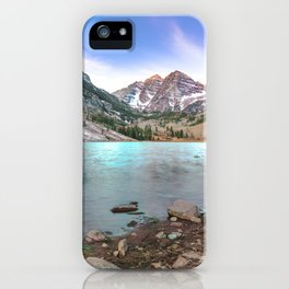 Sunrise over the Maroon Bells iPhone Case