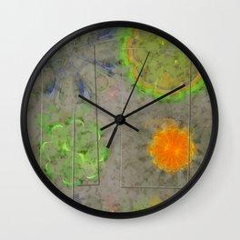 Beblooded Form Flowers  ID:16165-153024-61171 Wall Clock