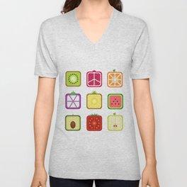 Squared Fruits Unisex V-Neck