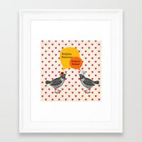 bonjour Framed Art Prints featuring Bonjour! by Sreetama Ray