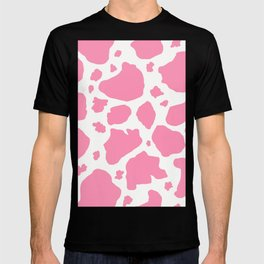 pink and white animal print cow spots T-shirt