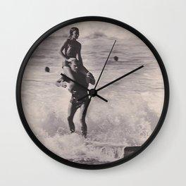 Tandem Surfers Marian & Tommy Zahn Wall Clock