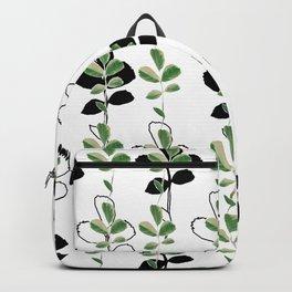 White midnight leaves Backpack