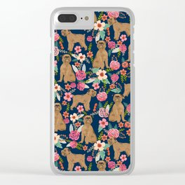 Brussels Griffon florals pattern for dog lovers custom pet friendly gifts for all dog breeds Clear iPhone Case
