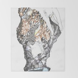 untitled (from the stone maiden series) Throw Blanket