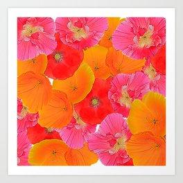 Flower Carpet 91 Art Print