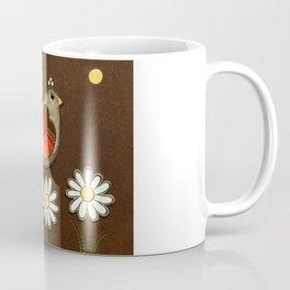 bird with three daisies Coffee Mug