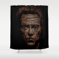 christopher walken Shower Curtains featuring Walken by Blake Byers