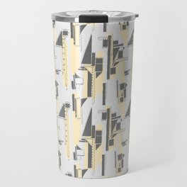 Black, Yellow and Gray Architectural Print Travel Mug