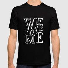 WE LOVE ME Black MEDIUM Mens Fitted Tee