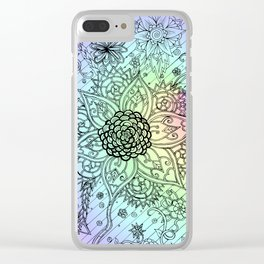 Psychedelic Swirls Clear iPhone Case