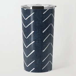 Mud Cloth Big Arrows in Navy Travel Mug