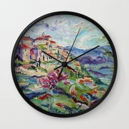 Gordes in the Luberon Wall Clock