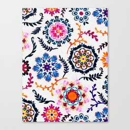 Happy Color Suzani Inspired Pattern Canvas Print