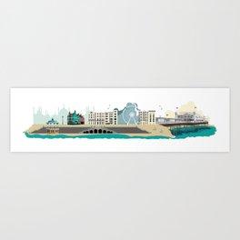 Brighton England Art Print Art Print