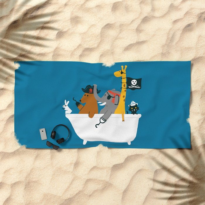 Everybody wants to be the pirate Beach Towel