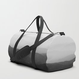 Black and white foggy horizon lines Duffle Bag