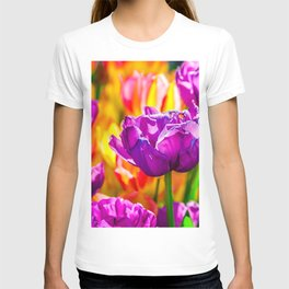 Charming And Cool Tulip Flowers T-shirt